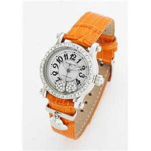 ALESSANDRA OLLA チャーム付きらきらハートウォッチ カラバリ12色!AO-4100  オレンジ