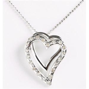 ROSSONA ダイヤモンドコレクションLove Heartペンダント<br>0.3ct天然ダイヤ20石 (Heart Boxつき)