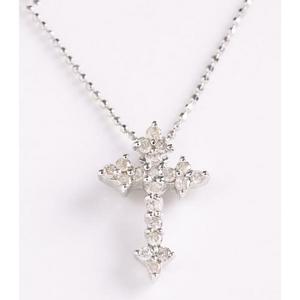ROSSONA ダイヤモンドコレクションClassic Cross <br>0.3ct天然ダイヤ20石ペンダント(HeartBoxつき)