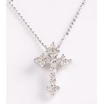 ROSSONA ダイヤモンドコレクション 0.3ct天然ダイヤ20石ペンダント(Heart Boxつき) Classic Cross