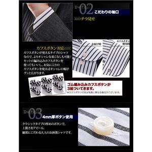 チラ見せドゥエボットーニ・ホワイト系シャツ3枚セット 3L