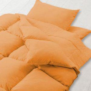 新20色羽根布団8点セット 和タイプ・セミダブル サニーオレンジ