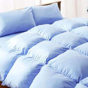【ベッド専用】20色羽根布団8点セット ベッドタイプ・セミダブル パウダーブルー