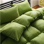 【ベッド専用】新20色羽根布団8点セット ベッドタイプ・セミダブル モスグリーン