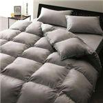 【ベッド専用】新20色羽根布団8点セット ベッドタイプ・セミダブル シルバーアッシュ