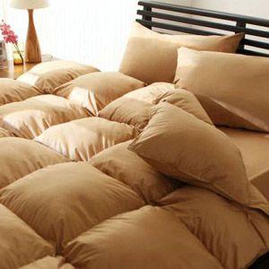 【ベッド専用】新20色羽根布団8点セット ベッドタイプ・ダブル ナチュラルベージュ