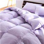 【ベッド専用】新20色羽根布団8点セット ベッドタイプ・セミダブル ラベンダー
