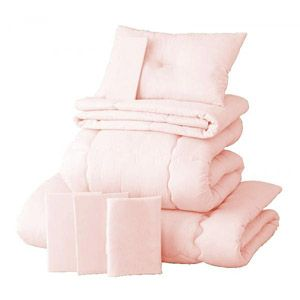 【ベッド専用】新20色羽根布団8点セット ベッドタイプ・セミダブル さくら
