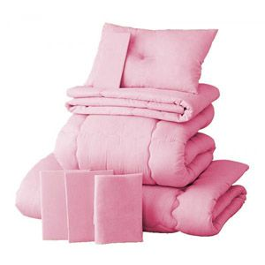 【ベッド専用】新20色羽根布団8点セット ベッドタイプ・シングル フレッシュピンク