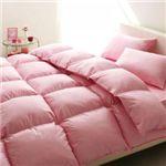 【ベッド専用】新20色羽根布団8点セット ベッドタイプ・セミダブル フレッシュピンク