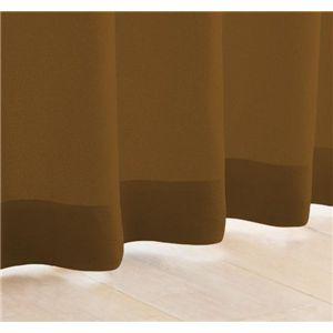 My カラーカーテン 20色 100×135(2枚組) セピアブラウン