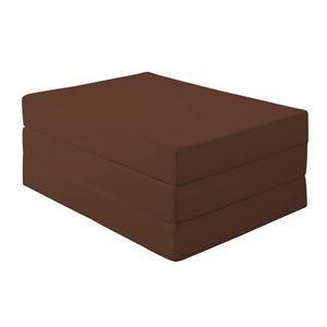 新20色 厚さが選べるバランス三つ折りマットレス 12cm セミダブル モカブラウン(仏=ブラウン)
