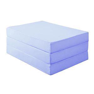 新20色 厚さが選べるバランス三つ折りマットレス 12cm セミダブル パウダーブルー