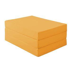 新20色 厚さが選べるバランス三つ折りマットレス 12cm ダブル サニーオレンジ