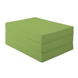新20色 厚さが選べるバランス三つ折りマットレス 12cm セミダブル モスグリーン