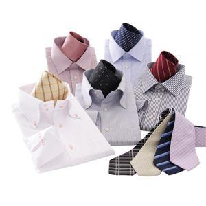 【選べる3タイプ】デザイナーが選んだ!1週間パーフェクトコーディネートYシャツ14点セット ON/OFFフリースタイルカラー M