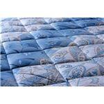 抗菌防臭防ダニ四層式ボリューム敷き布団 セミダブル ブルー