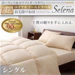 ポーランド産ホワイトダックダウン ロイヤルゴールドラベル 羽毛掛け布団【Selena】セレナ シングル ブラウン