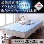 最先端素材!アウトラスト涼感敷きパッドシーツ 日本製 セミダブル ブルー