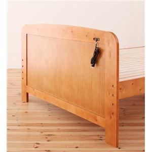 すのこベッド シングル【Fit-in】ダークブラウン 高さが調節できる!コンセント付き天然木すのこベッド【Fit-in】フィット・イン
