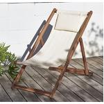 【テーブルなし】チェア(1脚) 座面カラー:ホワイト アカシア天然木 リクライニング折りたたみ式ガーデンチェア Resse レッセの詳細ページへ