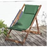 【テーブルなし】チェア(1脚) 座面カラー:グリーン アカシア天然木 リクライニング折りたたみ式ガーデンチェア Resse レッセの詳細ページへ