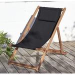 【テーブルなし】チェア(1脚) 座面カラー:ブラック アカシア天然木 リクライニング折りたたみ式ガーデンチェア Resse レッセの詳細ページへ