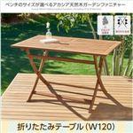 テーブル 幅120cm テーブルカラー:アカシアナチュラル アカシア天然木ガーデンファニチャー Efica エフィカの詳細ページへ