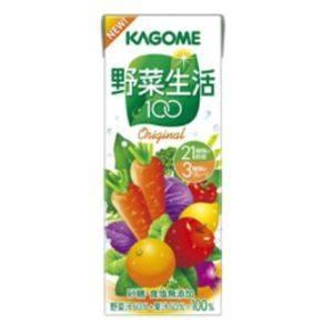 カゴメ 野菜生活100 紙パック200ml オリジナル 72本セット まとめ買い!