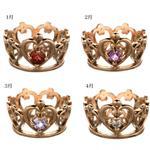 フェアリーテイル ピンク王冠ペンダントトップ(誕生石)ネックレス 155749 1月