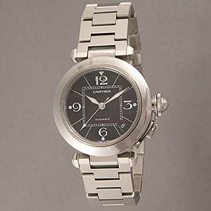 Cartier (カルティエ) ユニセックスウォッチ W31076M7 パシャC ブラック