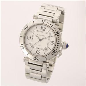 Cartier (カルティエ) ユニセックスウォッチ W31080M7 パシャ シータイマー ホワイト SS