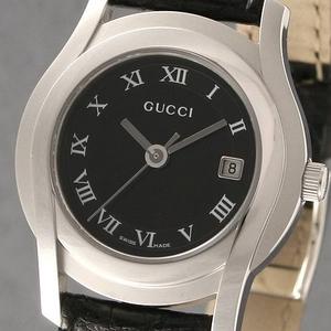 GUCCI(グッチ) ウォッチ 5500黒革 L BK(ブラック)