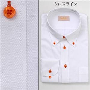 falchi NEW YORK ドレスシャツ F-D2R OR #2 クロスライン Lサイズ(41-86)