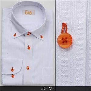 Falchi NewYork メンズ襟ワイドドレスシャツ F-D2W-OR ボーダー(#11) L 41-84
