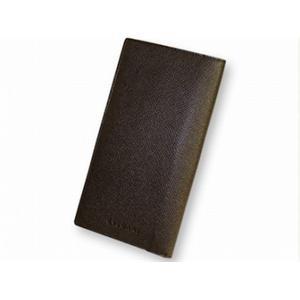 ブルガリ 20821 財布 2つ折り 長財布 小銭入れナシ BVLGARI こげ茶色