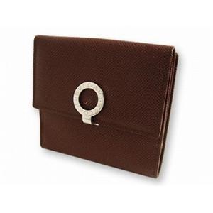 ブルガリ 23272 財布 Wホック2つ折り 財布 ブラウン