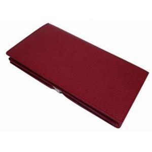 01ブルガリ/BVLGARI 23294 財布 マチ付き 長財布/ダークレッド