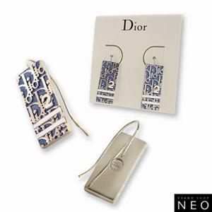 Christian Dior クリスチャン ディオール D69391 トロッター ピアス  ブルー