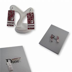 Christian Dior クリスチャン ディオール D69394 トロッター ピアス  レッド