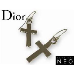Christian Dior クリスチャン ディオール D69511 クロス ピアス シルバー