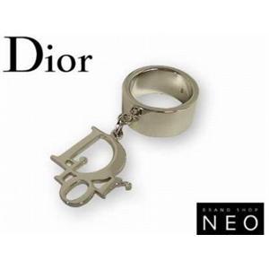 Christian Dior クリスチャン ディオール エクスボーツロゴリング D80648 シルバー