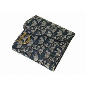 クリスチャン ディオール SLO43008 B3 ネイビー ロゴシリーズの3つ折り財布 Christian Dior
