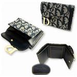 Christian Dior クリスチャン ディオール SLO43013-B3 3つ折り 財布 ブルー