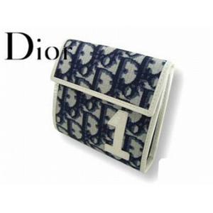 Christian Dior クリスチャン ディオール TCD43008 B2 3つ折り 財布 ブルー