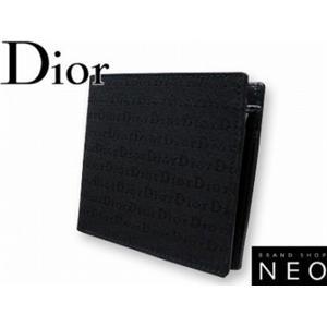 Christian Dior クリスチャン ディオール TDHC2002-TOI NO 2つ折り 財布 ブラック