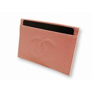 シャネル A13508 PK キャビアスキン カードケース CHANEL  ピンク