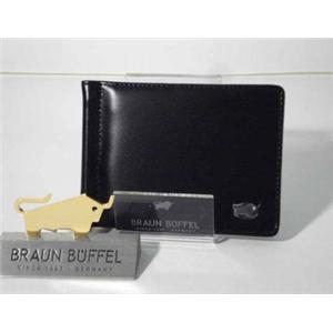 ブラウンビュッフェル JWM24 2つ折り財布 マネークリップ付き ブラック