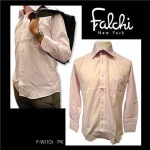 Falchi NewYork(ファルチ ニューヨーク) メンズドレスシャツ F-W-PK #10(ピンク) Lサイズ(41-86)
