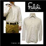 Falchi NewYork(ファルチ ニューヨーク) メンズドレスシャツ F-W-GR #14(グレー) Mサイズ(39-84)